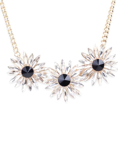 Rubans Gold-Toned & Black Jewellery Set