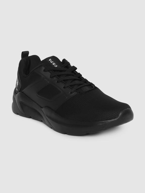 U.S. Polo Assn. Men Black Sneakers