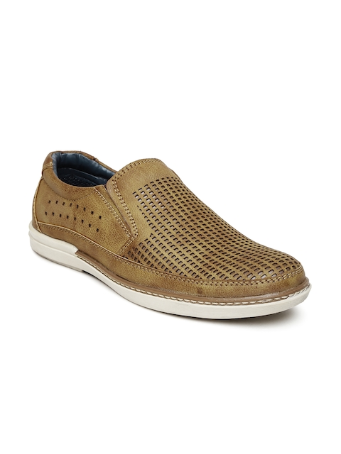 Roadster Men Brown Cut-Out Loafers