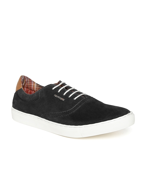 Provogue Men Black Suede Sneakers