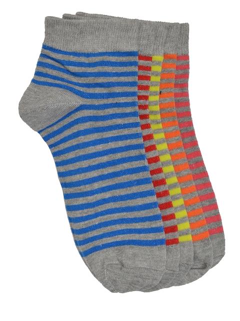 MARC Women Set of 5 Striped Ankle-Length Socks