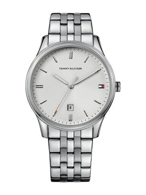 Tommy Hilfiger Men Silver-Toned Dial Watch NATH1710283J