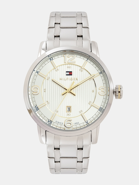 Tommy Hilfiger Men Silver-Toned Dial Watch NATH1710344J