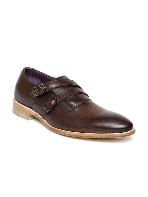 Louis Philippe Luxure Men Brown Leather Monks