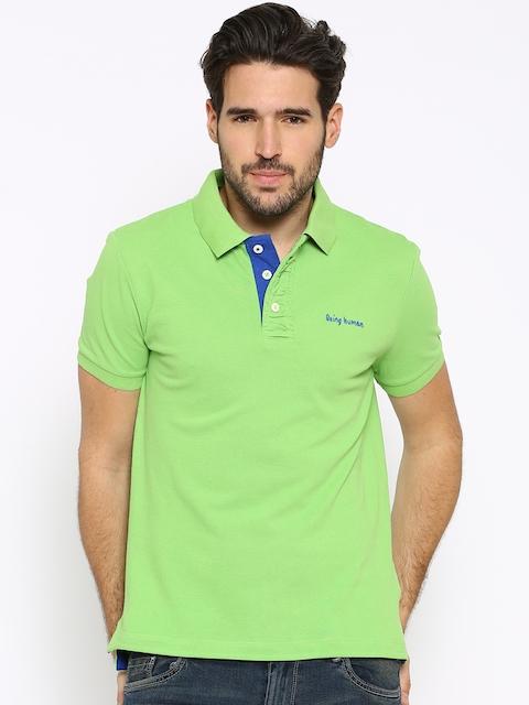 Being Human Clothing Green Polo T-shirt