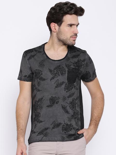 Being Human Clothing Charcoal Grey Printed T-shirt