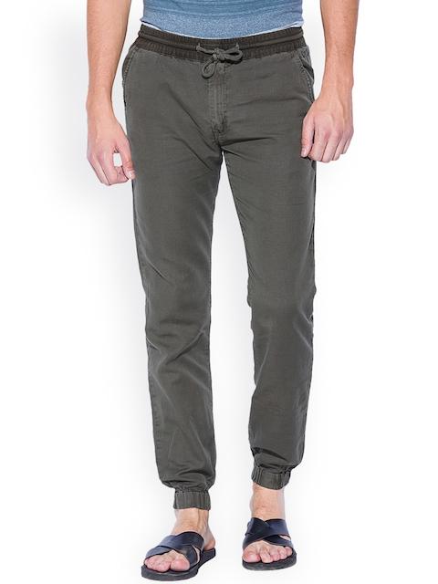 Mufti Olive Green Cuffed Trousers