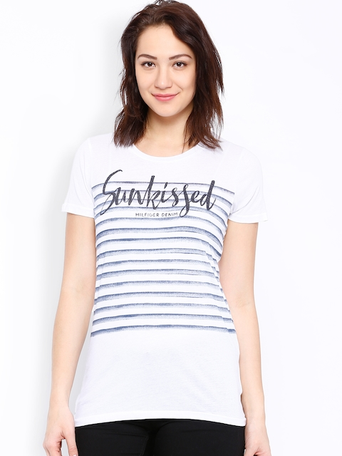 Tommy Hilfiger White Printed T-shirt