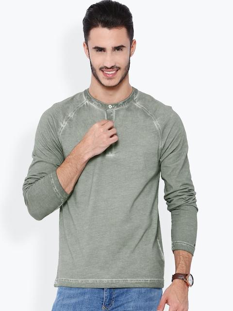 Tommy Hilfiger Grey Washed Henley T-shirt