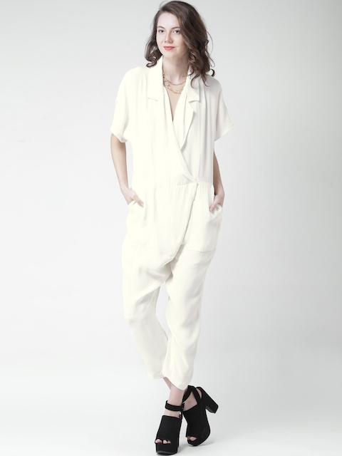 FOREVER 21 Off-White Jumpsuit
