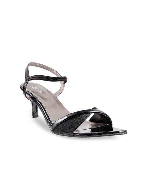 Metro Women Black Heels
