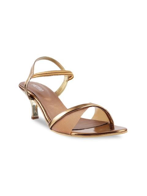 Metro Women Gold-Toned Heels