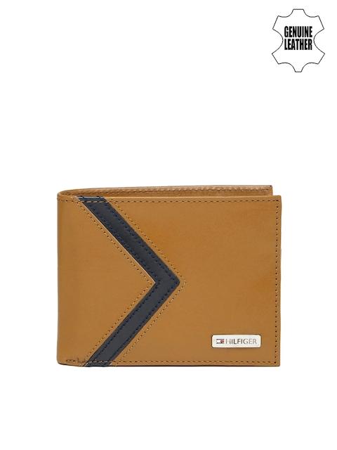 Tommy Hilfiger Men Tan Brown Genuine Leather Wallet