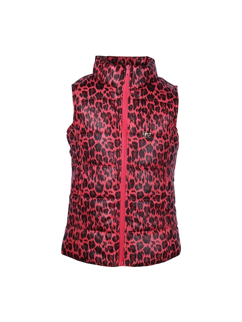 CUTECUMBER Girls Red Printed Jacket