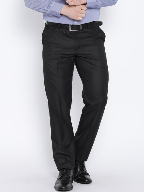 Blackberrys Black Sharp Fit Formal Trousers