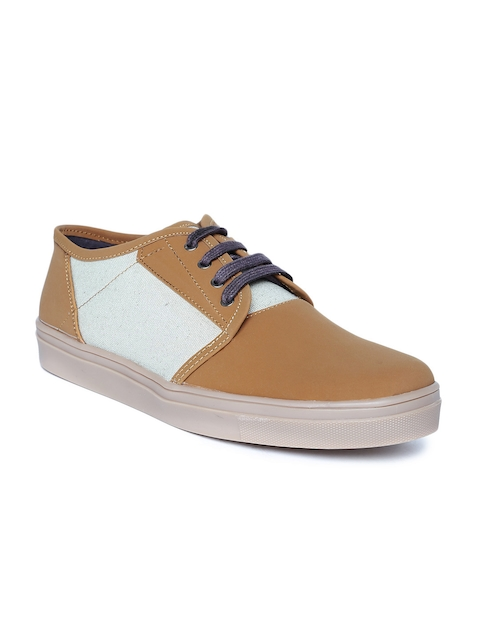 Roadster Men Tan Brown Sneakers  available at myntra for Rs.599