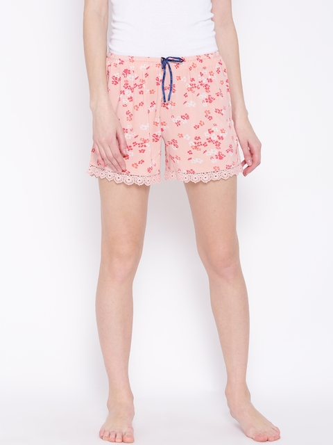 Vero Moda Peach-Coloured Printed Sleep Shorts 1804845005