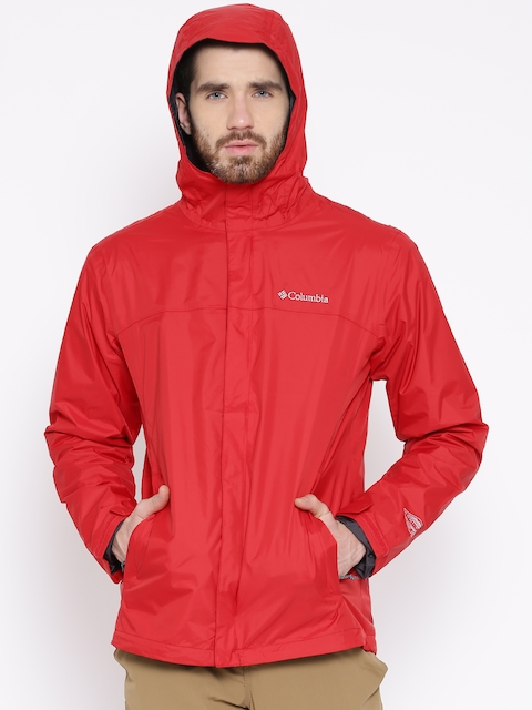 Columbia Red Waterlight II Hooded Outdoor Jacket