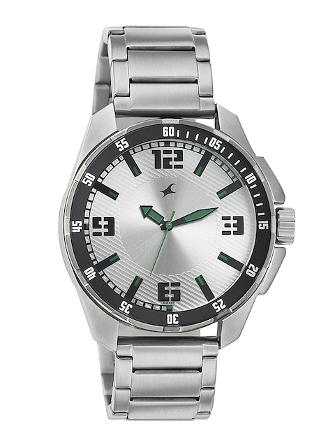 Fastrack Men Silver-Toned Dial Watch 3084SM01