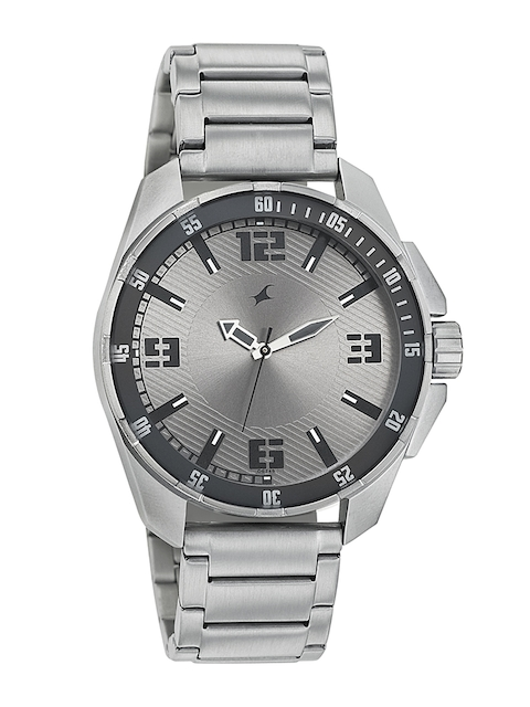 Fastrack Men Silver-Toned Dial Watch 3084SM02