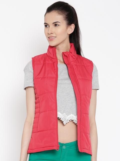 Pepe Jeans Red Sleeveless Jacket