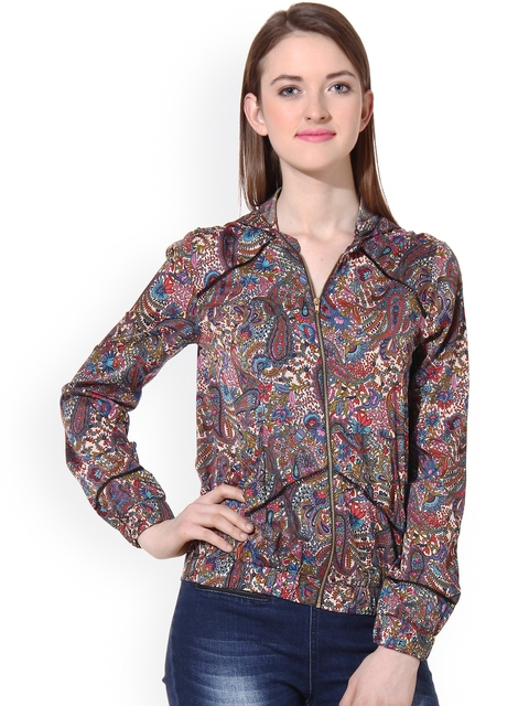 Oxolloxo Multicoloured Paisley Print Jacket