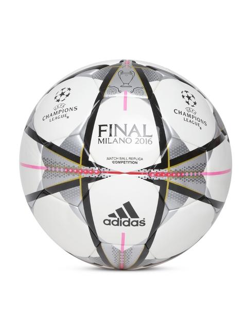 Adidas Men Off-White & Grey FINMILANO COMP Printed Football