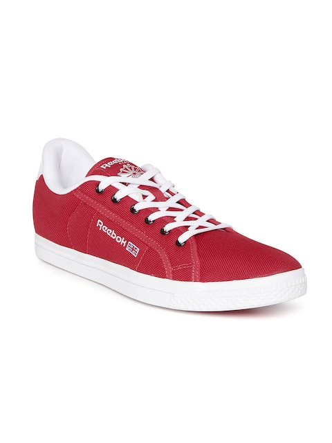 Reebok Classic Men Red Court Canvas Shoes
