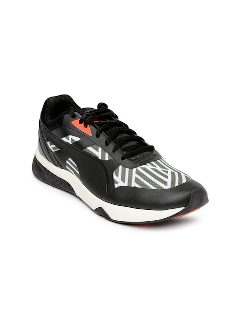 PUMA Women Black & White Printed Ignite Sneakers
