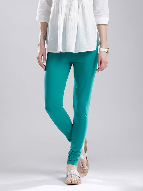 W Green Churidar Leggings