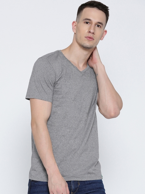 United Colors of Benetton Grey Grindle Effect T-shirt