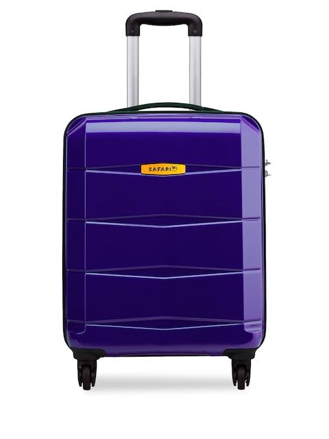 Safari Unisex Purple Medium Trolley Suitcase