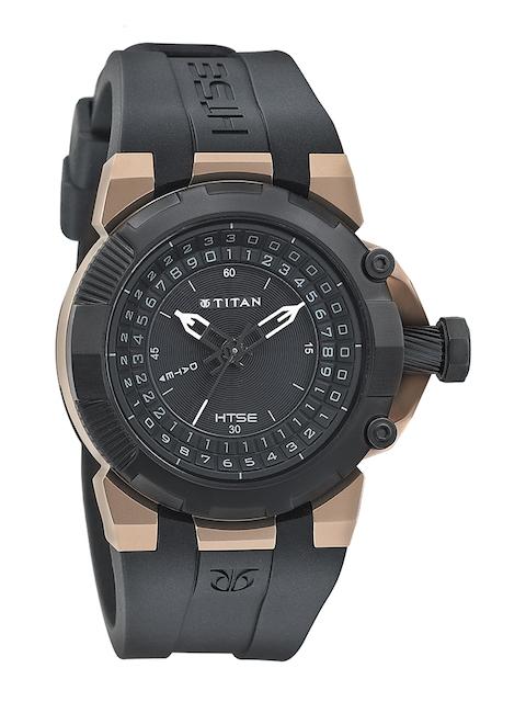 Titan Men Black Dial Watch 1539KP02