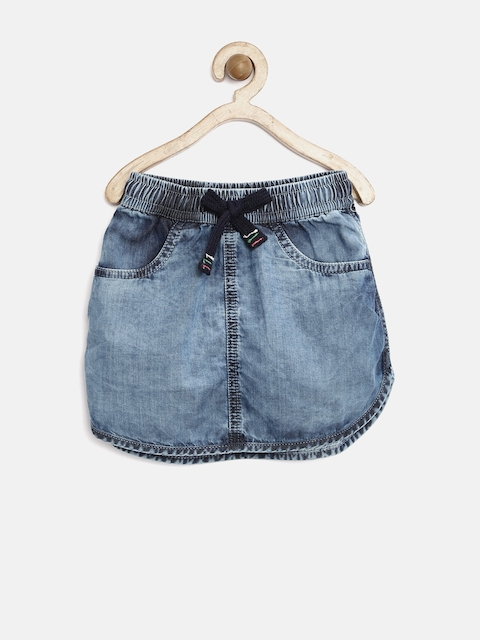 Gini & Jony Girls Blue Denim Mini Skirt