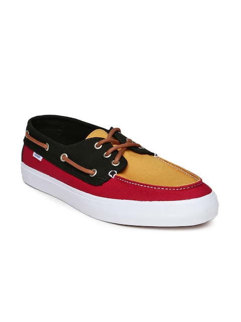 Vans Men Mustard Yellow & Red Chauffer SF Boat Shoes