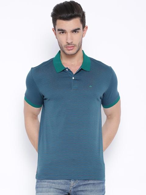 Arrow Teal Blue Striped Polo T-shirt