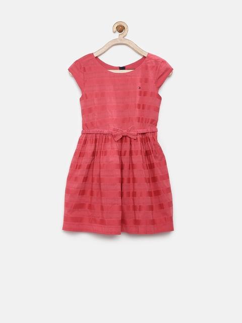 Tommy Hilfiger Girls Red Fit & Flare Dress