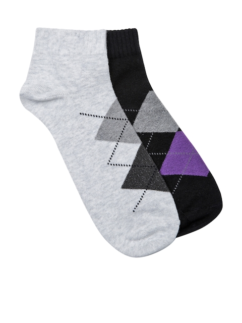 Wrangler Men Set of 2 Argyle Ankle-Length Socks