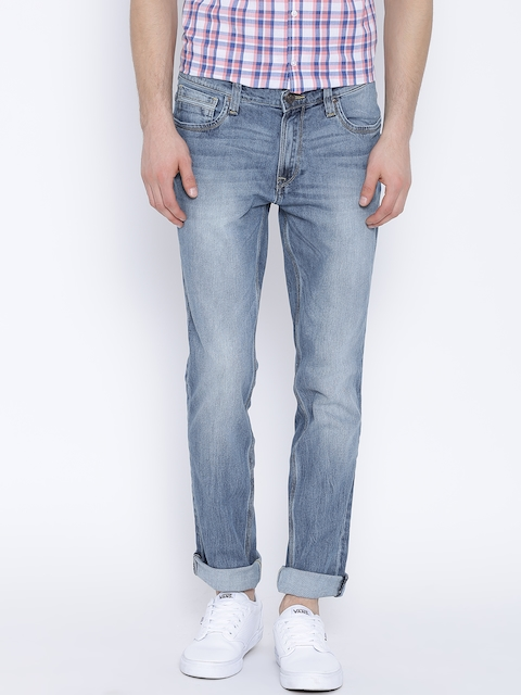 Lee Blue Washed Bruce Skinny Fit Stretchable Jeans
