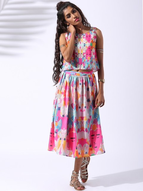 Lokal South Multicoloured Mr. Pillai Printed Twin Set Dress
