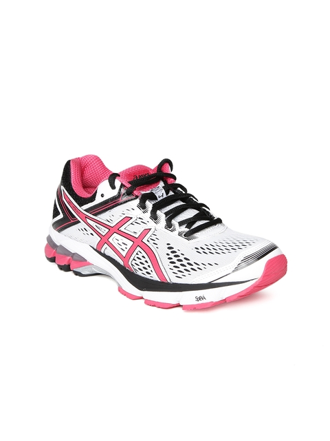 ASICS Women White GT-1000 4 Running Shoes
