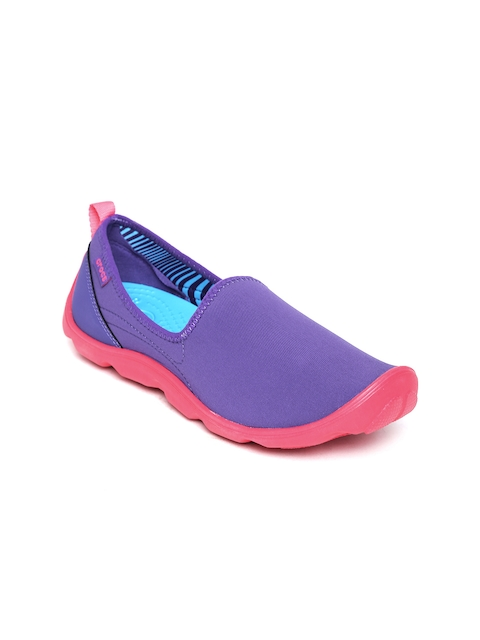 Crocs Women Purple Slip-Ons