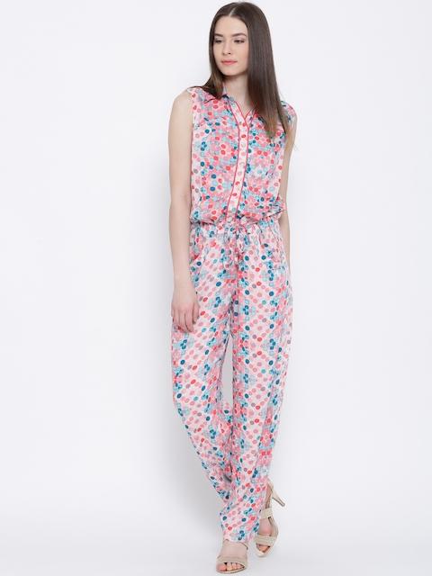 BIBA Pink Printed Jumpsuit