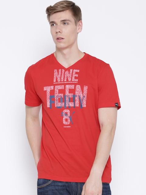 Puma Red Printed T-shirt