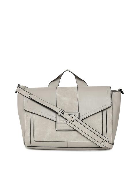 Steve Madden Grey Solid Handheld Bag