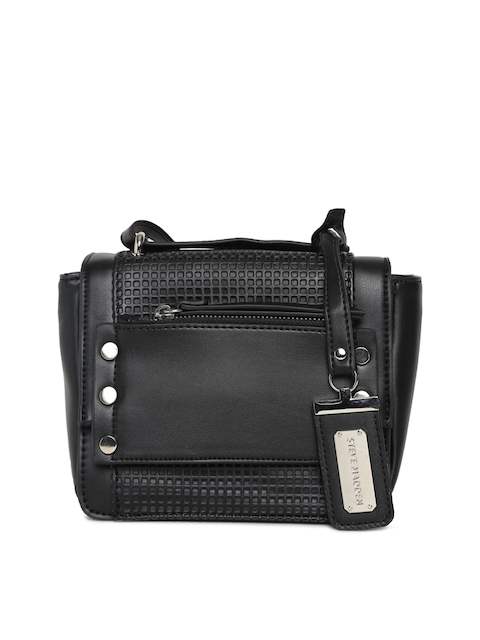 Steve Madden Black Textured Handheld Bag