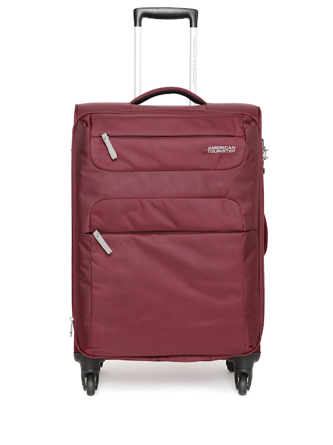 AMERICAN TOURISTER Unisex Maroon AT Ski Large Trolley Bag