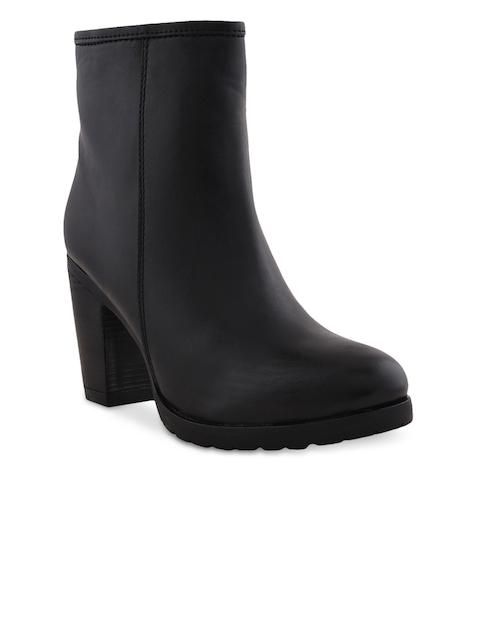 Bruno Manetti Women Black Heeled Boots