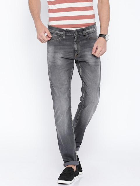 Allen Solley Grey Washed Slim Fit Jeans