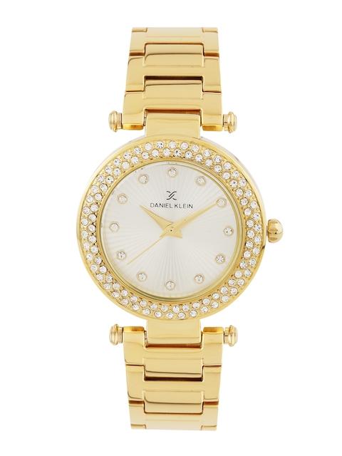 Daniel Klein Premium Women Silver-Toned Embellished Dial Watch DK10921-1